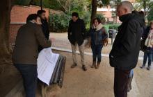 Imatge de la presentació al parc d'Àngel Guimerà
