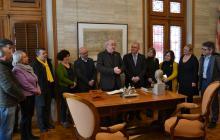 Imatge visita conseller Educació Ajuntament de Reus