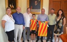 Foto recepció alcalde Club Natació Reus Ploms