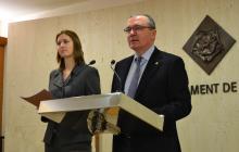 Foto de la roda de premsa de presentació de l'Ordenança de Civisme
