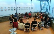 Foto d'una sessió de la Unitat de Mediació de la Guàrdia Urbana
