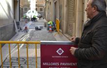 Foto de les obres al carrer del Galió