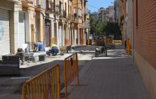 Foto de les obres del carrer Alt de Sant Pere