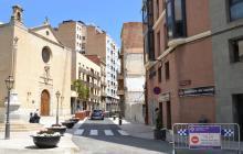 Foto de la plaça de la Sang reoberta al trànsit de manera provisional