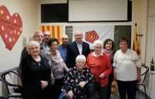 Imatge de l'acte de reconeixement a les persones de 80 anys del Casal Municipal de Gent Gran Sant Bernat Calbó