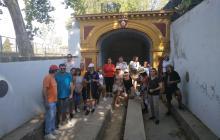 Caminada usuaris Centres Cívics al passeig de la Boca de la Mina