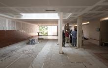 Visita d'obres nou accés a sales de vetlla del tanatori