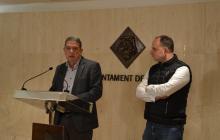 Roda de premsa Riuada Solidària als comerços de Reus