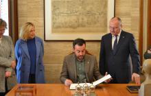 Visita institucional Lluís Soler, president Associació Catalana de Municipis