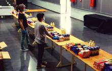 Preparació de la cistella covid del Programa de Gestió Alimentària