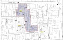 Plànol aparcament zona blava barri del Carme
