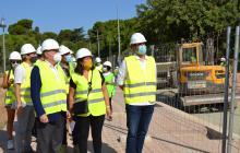 Visita d'obres al passeig de la Boca de la Mina i el Parc de les Olors