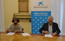 Signatura conveni obra social La Caixa
