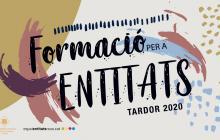 Cartell Formació per a les Entitats Tardor 2020