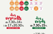 Cartell horaris Nadal Mercat Carrilet