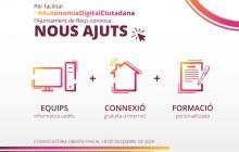 Imatge dels ajuts per a la connexió a Internet i cessió d'equips informàtics per impulsar l'autonomia digital ciutadana