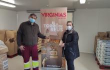 Donació de torrons Virginias a la Xarxa de Distribució d'Aliments