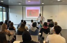 Conferència Jordi Ginebra sobre Ferrater a la Biblioteca Pere Anguera