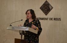 Imatge de la regidora de Participació, Ciutadania i Transparència durant la presentació del Pla Municipal de Gent Gran
