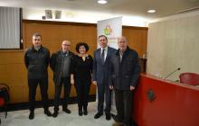 Imatge regidora Vilella, president Fundació Port Aventura i representants entitats del programa gestió alimentària