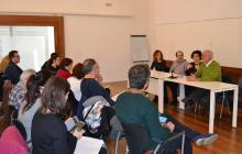 Imatge de la presentació del projecte A-Porta al barri Horts de Miró