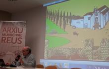 Imatge de la presentació de l'ARE a càrrec d'Ezequiel Gort, membre de Carrutxa