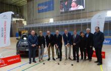 Imatge de l'acte de presentació de la Copa del Rei i de la Copa de la Reina d'hoquei patins Reus 2019 al Pavelló Olímpic