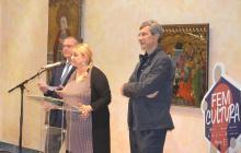 Foto presentació Nit Museus i Patrimoni Reus 2017 sala gòtic museu plaça Llibertat