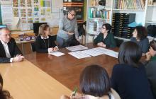 Reunió de l'alcalde amb la comunitat educativa de l'escola Joan Rebull