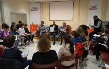Imatge de la reunió final del Consell d'Infants Ciutadans 2017-2018 al Pavelló Olímpic Municipal