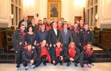 Imatge recepció Reus Deportiu Genuine saló de plens Ajuntament de Reus
