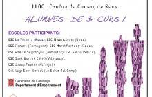 Cartell de la trobada escolar d'escacs 2017 a Reus